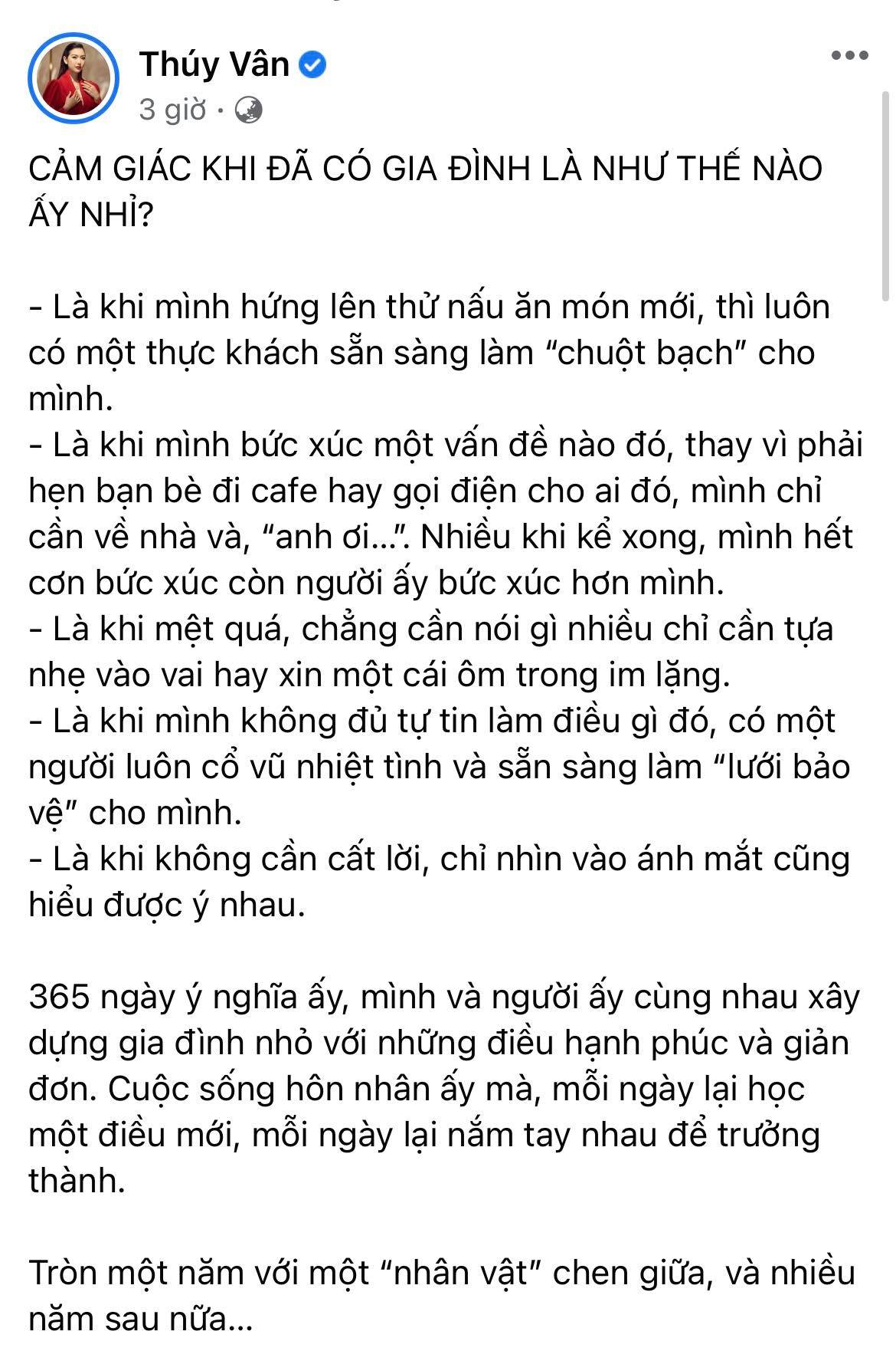Á hậu Thuý Vân tiết lộ 5 điều thay đổi sau đúng 1 năm kết hôn, nghe qua là biết chồng doanh nhân tâm lý cỡ nào! - Ảnh 2.