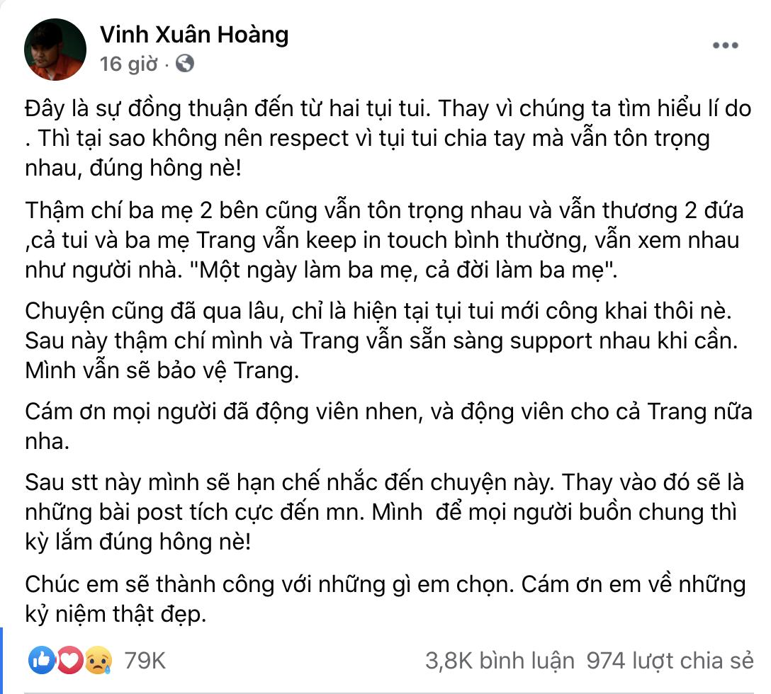 """Biến mới: Lương Minh Trang khẳng định bị Vinh Râu chặn Facebook, """"bóng gió"""" chồng cũ nói 1 đằng làm 1 nẻo? - Ảnh 5."""