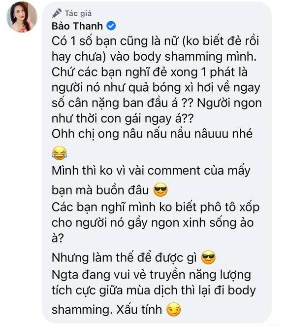 Bảo Thanh tươi tắn khoe sắc vóc hậu sinh con, netizen vào bình phẩm body-shaming liền nổi đoá đáp trả! - ảnh 2
