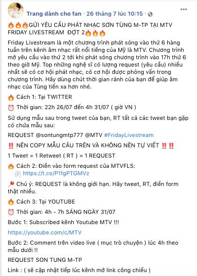 Biến mới: Fan Sơn Tùng M-TP tố fan Jack sao chép ý tưởng giành slot phát nhạc trên MTV quốc tế? - ảnh 1