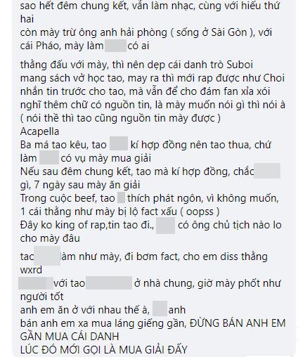 Biến căng: RichChoi diss thẳng mặt Quán quân King Of Rap, tố đi cửa sau để giành chiến thắng, chơi xấu anh em cùng chương trình! - ảnh 5