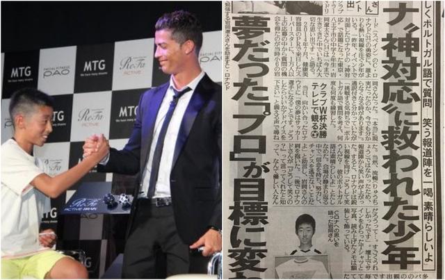 Chỉ bằng 1 lời nói chân thành, Ronaldo đã thay đổi số phận của cậu bé Nhật Bản từng bị đám đông chế giễu: Đẳng cấp thực thụ của một ngôi sao lớn! - ảnh 1