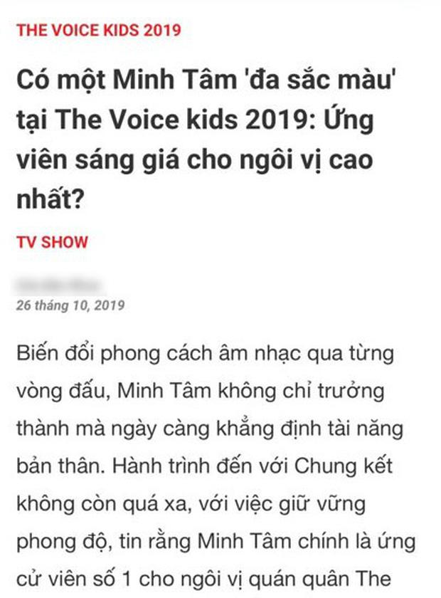 The Voice Kids từng vướng nghi án dàn xếp kết quả: HLV lỡ tay share link học trò là Quán quân trước Chung kết? - ảnh 3