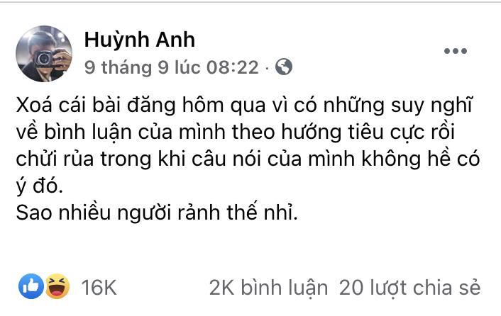 Phốt bình luận thô tục về bạn gái cũ chưa qua, Huỳnh Anh lại bị chỉ trích vì hành động phản cảm khi bay hạng thương gia - Ảnh 2.