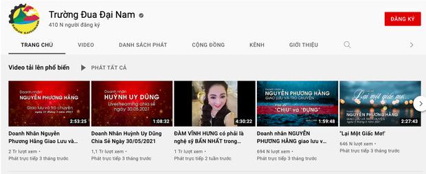 """Sau khi bà Phương Hằng tuyên bố """"dừng lại"""", hàng loạt kênh YouTube hàng chục nghìn lượt theo dõi của Công ty Đại Nam đã bốc hơi - Ảnh 4."""