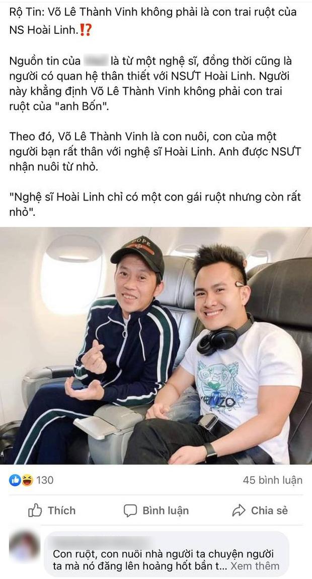 ĐỘC QUYỀN: Võ Lê Thành Vinh chính thức lên tiếng trước thông tin không phải con ruột NS Hoài Linh - Ảnh 3.