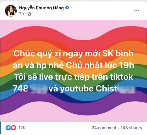 Bà Phương Hằng quay xe tuyên bố livestream trở lại, cảnh báo các tài khoản giả mạo đi bình luận dạo: Tôi không có thời gian đi bình luận khắp trang của người khác - ảnh 2