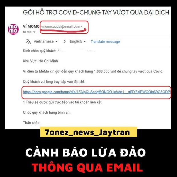 Ví Momo phát cảnh báo chiêu trò lừa đảo bằng email, khuyến cáo 3 điều cần lưu ý tới người dùng - ảnh 1