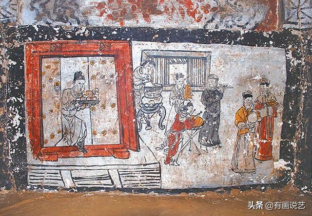 Soi tranh vẽ cảnh sinh hoạt đời xưa trong mộ cổ, dân mạng kịch liệt chỉ trích: Nhìn kỹ mới thấy 1 chi tiết quá mức rùng mình - ảnh 2