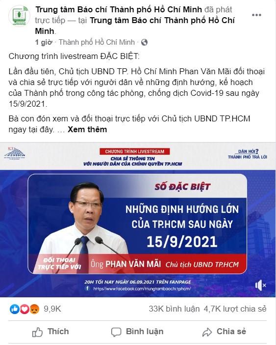 Buổi livestream đặc biệt có sự tham gia của chủ tịch Phan Văn Mãi đạt kỷ lục về số người xem và chia sẻ - Ảnh 2.