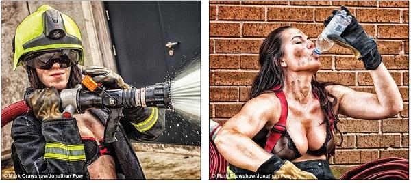 Những lính cứu hỏa xinh đẹp cởi áo chụp ảnh 6