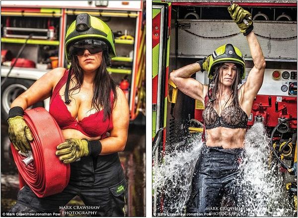 Những lính cứu hỏa xinh đẹp cởi áo chụp ảnh 8