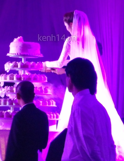 Những hình ảnh hiếm hoi trong tiệc cưới Hà Tăng 11