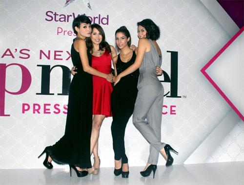 Thùy Trang tự tin tại họp báo Asia's Next Top Model 3