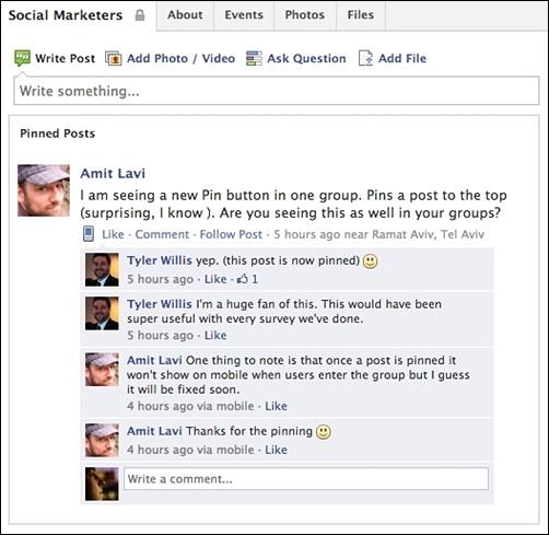 """Đua đòi"" Pinterest, Facebook cập nhật tính năng ghim post 2"