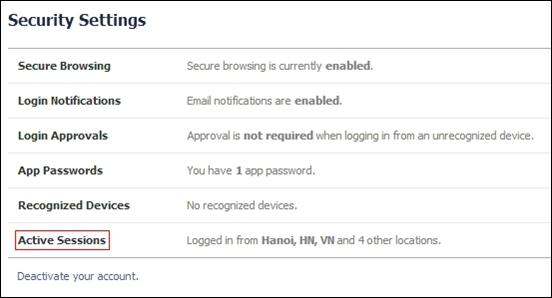 Toàn tập cách bảo vệ Facebook 3