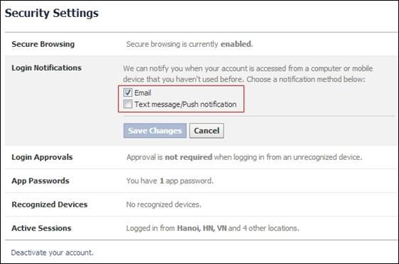 Toàn tập cách bảo vệ Facebook 7