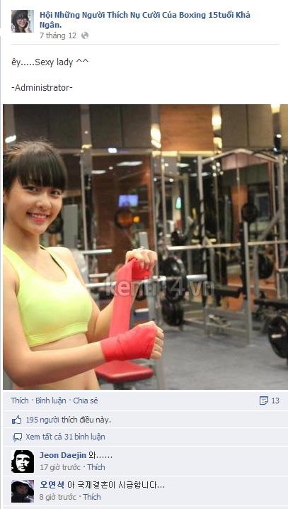 """Vẻ đẹp của """"Boxing girl"""" Khả Ngân gây sốt tại Hàn Quốc 5"""