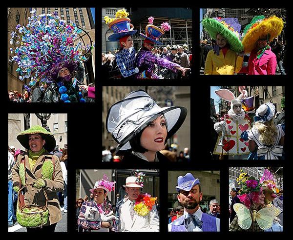 Diễu hành với mũ thỏ là một trong những phong tục truyền thống ở Anh, Úc và Mỹ.