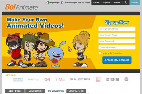 tự làm phim hoạt hình cực kul với goanimate com
