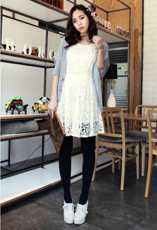 Image result for cách mix đồ với váy suông