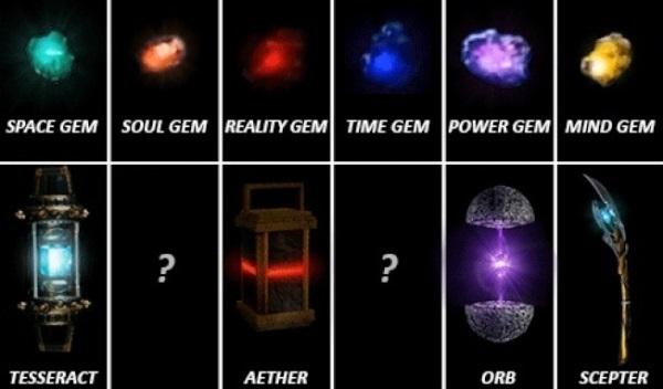 """Những viên ngọc Vô Cực. Tuy không phải là nhân vật, nhưng đây từ lâu đã  chính là trọng tâm của """"Vũ trụ điện ảnh Marvel"""". Có 6 loại đá tổng hợp và  bất cứ ai ..."""