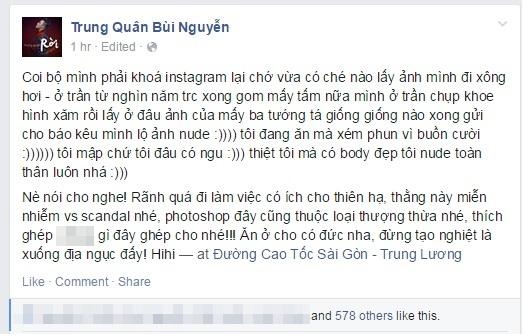 Trung Quân Idol bức xúc vì bị tố lộ ảnh nude trên diễn đàn gay
