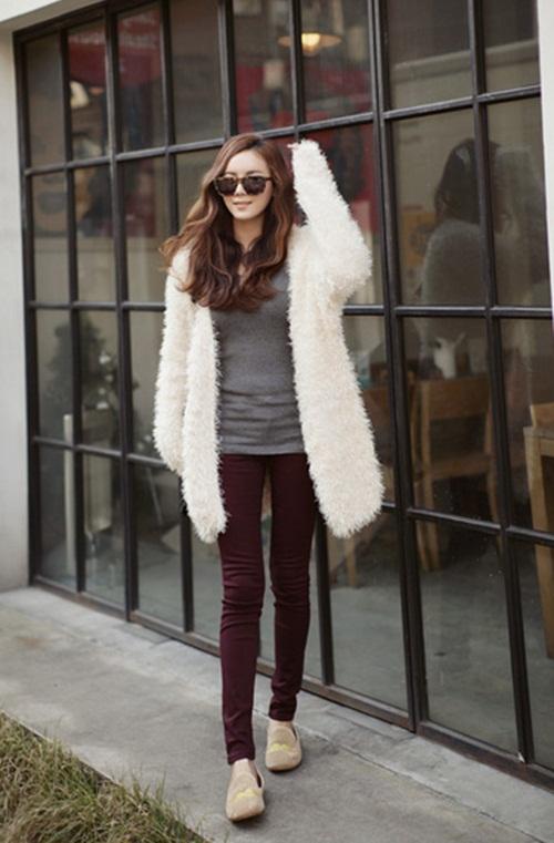 """Mix đồ phong cách với """"hot item"""": Áo len xù 21"""