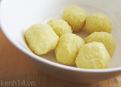 Bánh trôi tàu lá dứa xanh mướt ngọt lịm 7