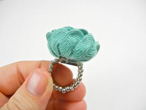 Nhẫn xinh nhẫn yêu từ dây chun 7