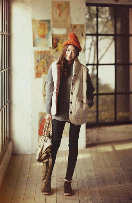 Học cách mix áo phao cực chất cho những ngày lạnh mưa gió 20
