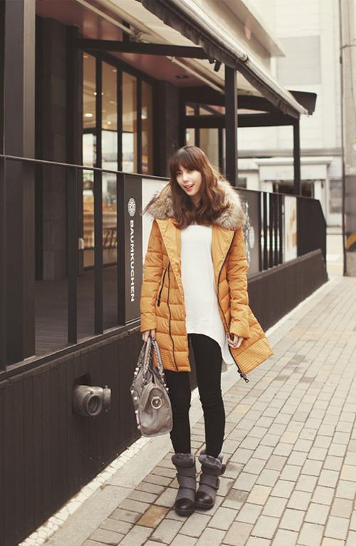 Học cách mix áo phao cực chất cho những ngày lạnh mưa gió 15