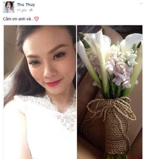 Rò rỉ ảnh Thu Thủy bí mật đám cưới với bạn trai 12 năm 1