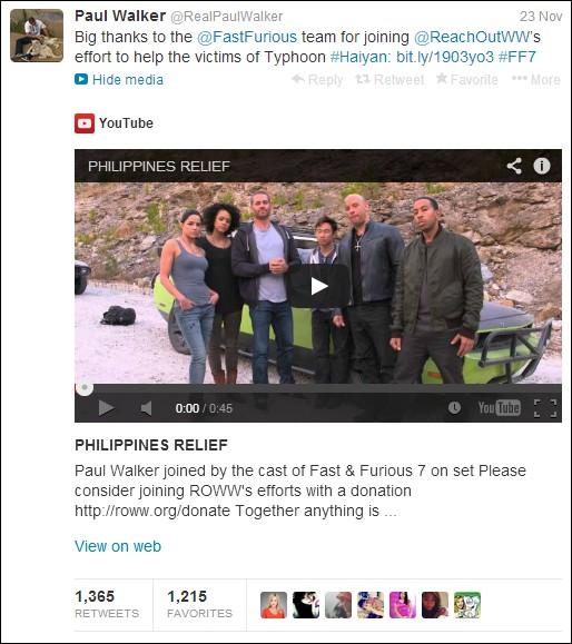 Cuộc đời đầy ý nghĩa bên ngoài màn ảnh của Paul Walker 11