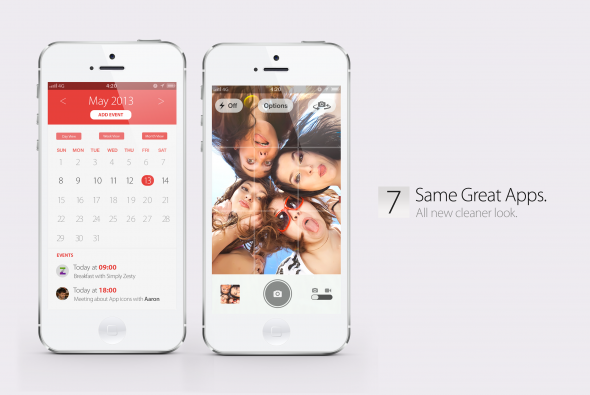 Bản concept iOS 7 với thiết kế phẳng vô cùng đẹp mắt 10
