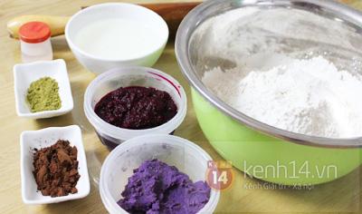 Làm bánh dẻo ngũ sắc rực rỡ ngày Trung thu 3
