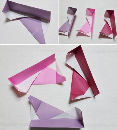 Học cách gấp hộp quà tam giác đơn giản và tiện lợi 5
