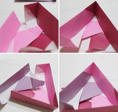 Học cách gấp hộp quà tam giác đơn giản và tiện lợi 6
