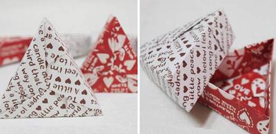 Học cách gấp hộp quà tam giác đơn giản và tiện lợi 8