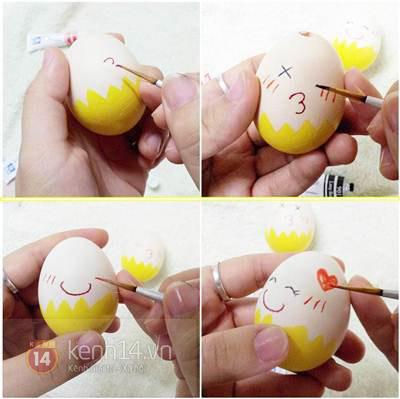 Lật đật làm từ vỏ trứng xinh xắn đáng yêu 5