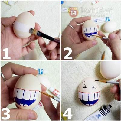 Lật đật làm từ vỏ trứng xinh xắn đáng yêu 6