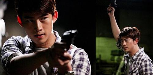 """Taecyeon (2PM) đọ tài bắn súng cùng """"tình địch"""" 1"""