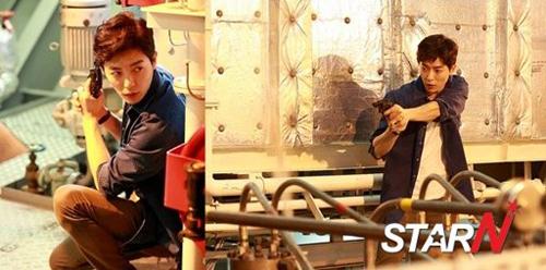 """Taecyeon (2PM) đọ tài bắn súng cùng """"tình địch"""" 2"""
