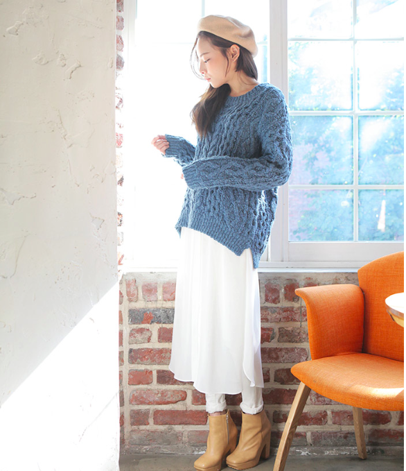 """Mặc xinh ngày se lạnh với """"bộ đôi"""" áo len - chân váy xòe  14"""