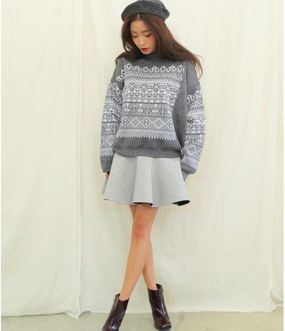 """Mặc xinh ngày se lạnh với """"bộ đôi"""" áo len - chân váy xòe  7"""