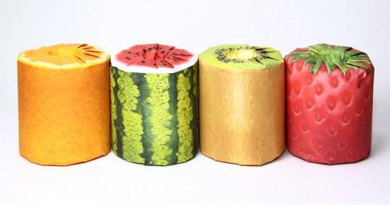 Thích thú với những cuộn giấy vệ sinh có hình trái cây 1