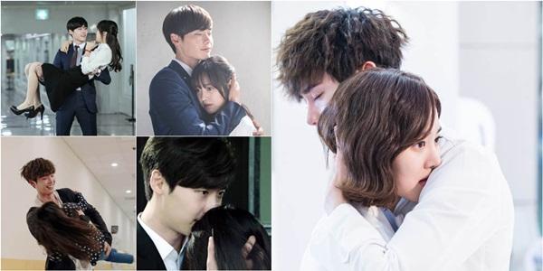 Kang Sora cười tít mắt khi được Lee Jong Suk ôm từ phía sau 7