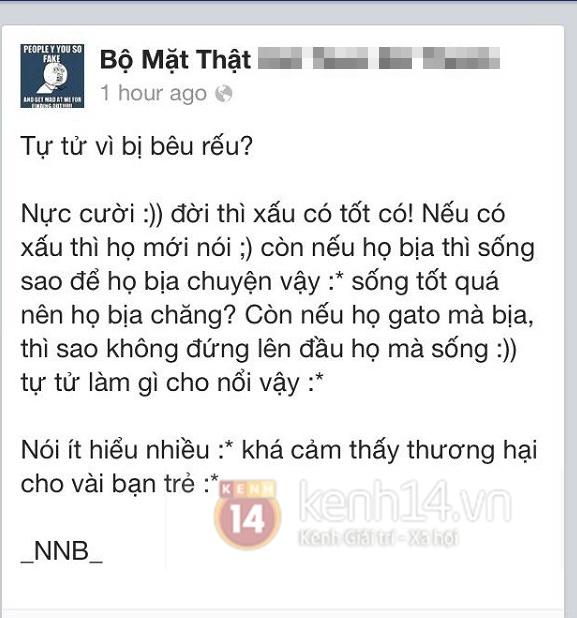 Đà Nẵng: Nữ sinh lớp 12 tự tử vì bị bêu riếu trên Facebook 2