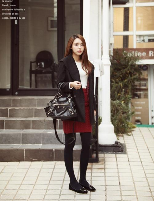 Dạo phố trendy với váy len ngọt ngào  21