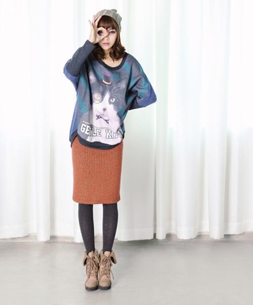 Dạo phố trendy với váy len ngọt ngào  12